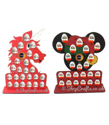 SPECIAL OFFER on 2 Chocolate Advent Calendars to fit Kinder Eggs - *More designs available*