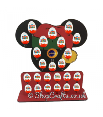 Reusable 6mm Mouse Head Kinder Egg and Chocolate Orange Advent Calendar - Other Shapes Available