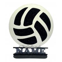 Football shape on stand personalised with Name