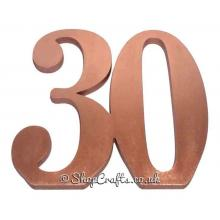 Large Freestanding 18mm thick Numbers