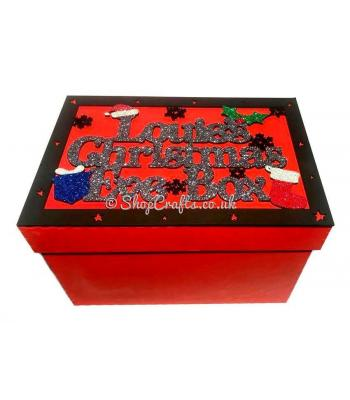 Christmas Eve Box personalised with Name Hat Present and Stocking