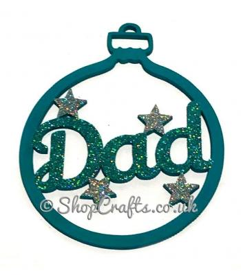 Family Name or Personalised Bauble with Star Detail