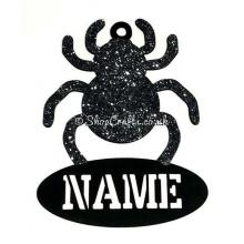Spider Bauble Halloween Decoration With Name