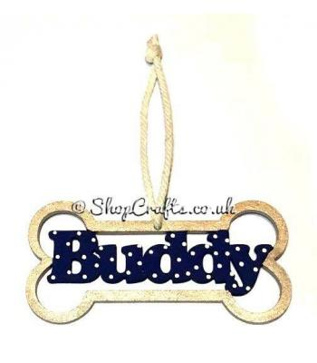 Dog Bone Bauble with Name