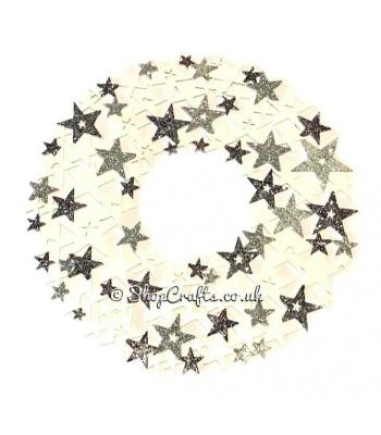 Star Shapes Christmas Hanging Wreath Decoration
