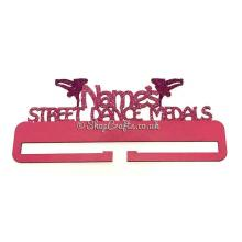 Street Dancing Hanging Medals Holder Personalised with Name