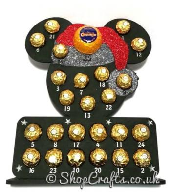 Reusable Mickey Mouse Head Shape Chocolate Advent Calendar - 6mm thick *More Designs Available*