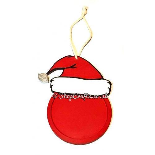 bac2a7aa5f4 Santa Hat Photo Frame Christmas Bauble Decoration