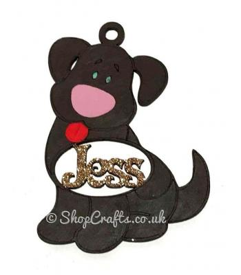 Dog Shape Personalised Pet Bauble with Name