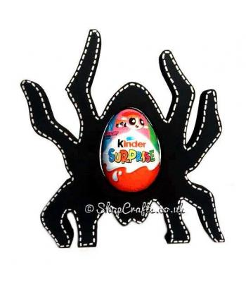 Halloween Spider Kinder Egg Holder -18mm thick Freestanding