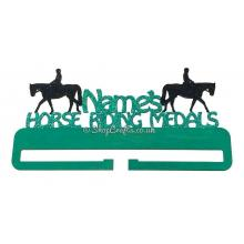 Horse Riding Hanging Medals Holder Personalised with Name