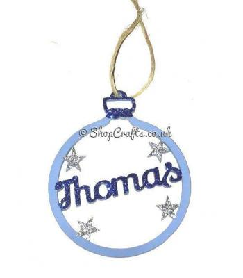 Star Detail Bauble with Name