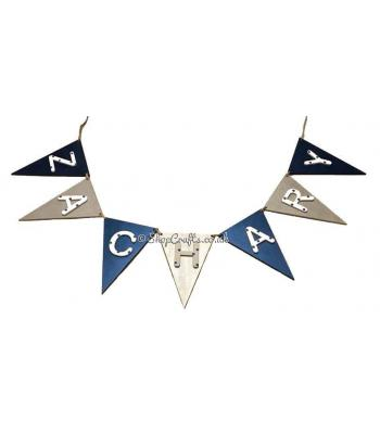 Traditional Triangle Flag Shape Bunting - Personalised with Name