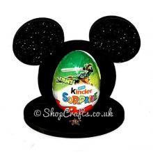 Mickey Mouse Shape Kinder Egg Holder - 6mm Thick on a Stand