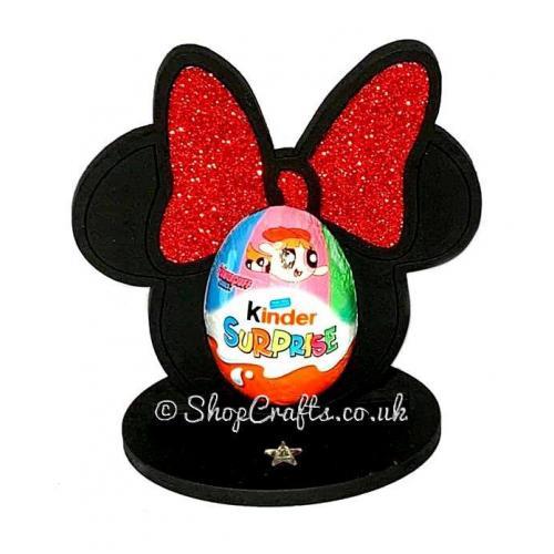 Christmas Elf Girl Kinder Egg Holder 18mm MDF Freestanding Craft Shape Pack of 5