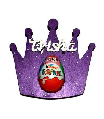 Princess Tiara Crown Kinder Egg Holder - 18mm Thick Freestanding