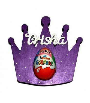 Princess Tiara Crown Kinder Egg Holder - 18mm Thick Freestanding