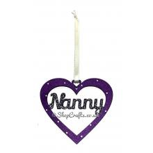 Heart Shape Family Name Hanging Decoration