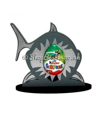Shark Kinder Egg Holder on a Stand - 6mm Thick