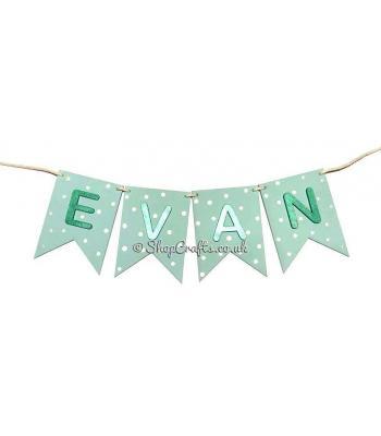 Banner Shape Personalised Hanging Name Bunting