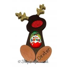 Reindeer Kinder Egg Holder Decoration - 18mm thick - Freestanding