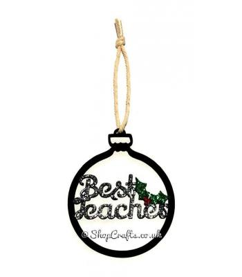 Christmas Best Teacher Hanging Bauble and Gift Tag