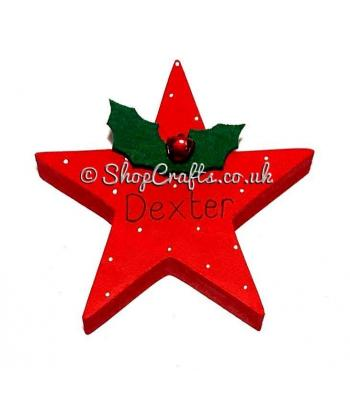 Star Freestanding with Name -18mm thick - Decorative Table Place Name Card