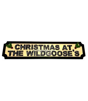 Christmas at the Surname's Street Sign - Medium - 6mm thick