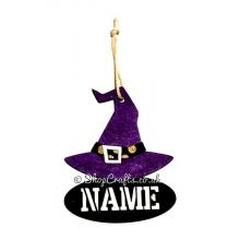 Witches Hat Hanging Decoration with Name