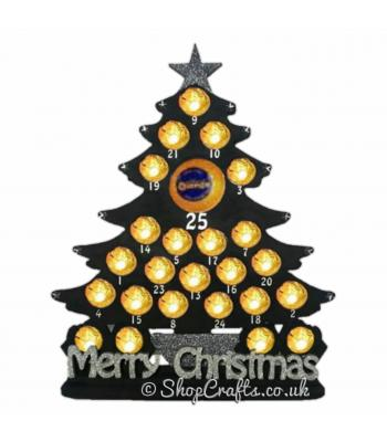 Reusable Christmas Tree Shape Chocolate Advent Calendar - 6mm thick *More Designs Available*
