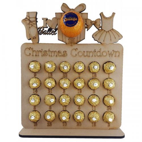 Reusable Christmas Tree Shape Chocolate Advent Calendar 6mm Thick