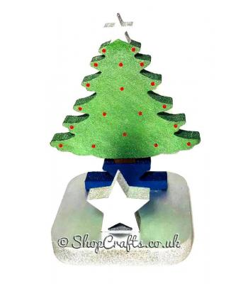 18mm thick freestanding stocking hanger - Christmas tree.