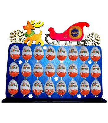 Reusable 6mm thick Reindeer advent for Kinder egg/chocolate orange - OTHER DESIGNS AVAILABLE
