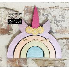 Rainbow Stacker - Unicorn theme *OTHER DESIGNS AVAILABLE*