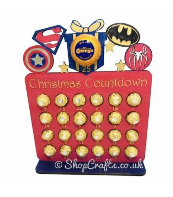 Reusable 6mm thick superhero advent calendar - OTHER DESIGNS AVAILABLE
