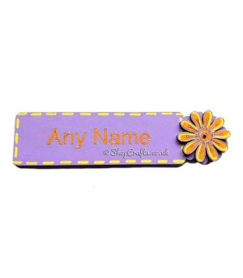 Bookmark with name and choice of 3D embellishment.