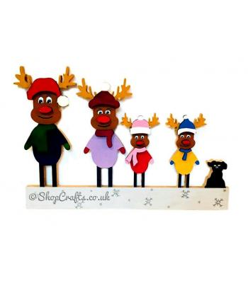 18mm thick freestanding Reindeer Christmas family.