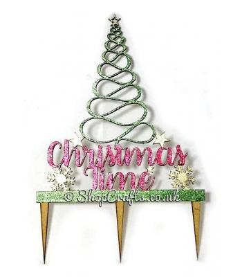 "Reusable Christmas cake topper - ""Christmas Time"" tree version *OTHER DESIGNS AVAILABLE*"
