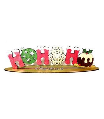 "Christmas ""HOHOHO"" freestanding decorative sign."