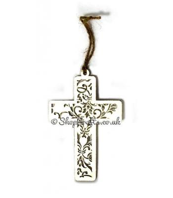Detailed cross tree decoration.