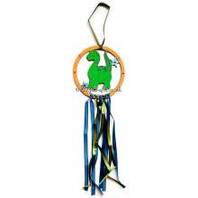 Hanging mini dream catcher - dinosaur version.
