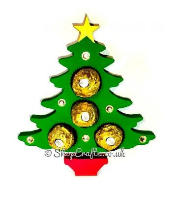 Christmas tree shaped 18mm thick freestanding confectionary chocolate holder.