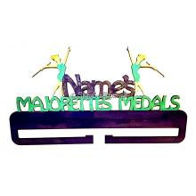 Personalised medal rail holder - Majorettes version.