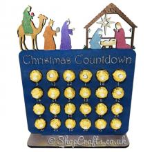 Reusable 6mm thick Nativity themed advent calendar - OTHER DESIGNS AVAILABLE
