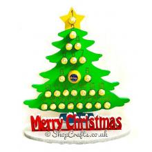 Large 18mm thick reusable Christmas advent tree for Ferrero Rocher/Lindt & Chocolate Orange.
