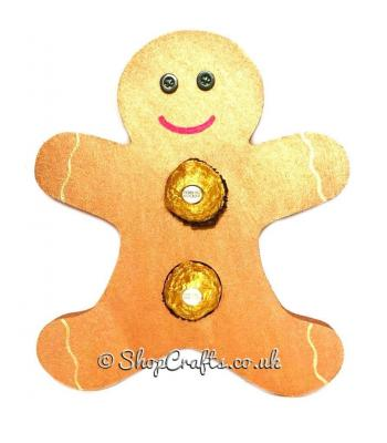 Gingerbread man 18mm thick freestanding confectionary holder