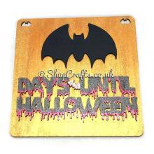 Halloween themed chalkboard countdown - bat design.