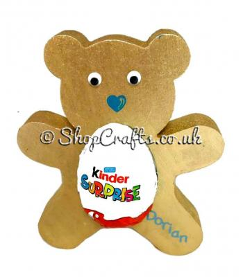 18mm thick Kinder egg holder - Teddy Bear version.