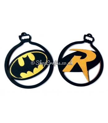 """Batman and Robin"" character christmas tree bauble."