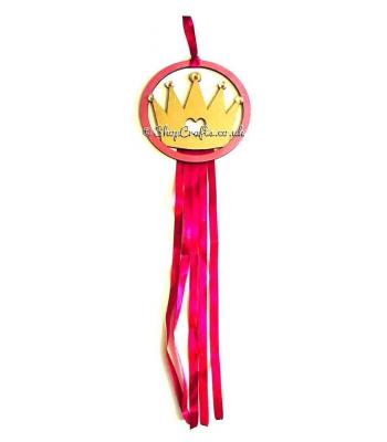 Hanging Mini dream catcher - crown version.